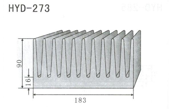 18m型材散热器273