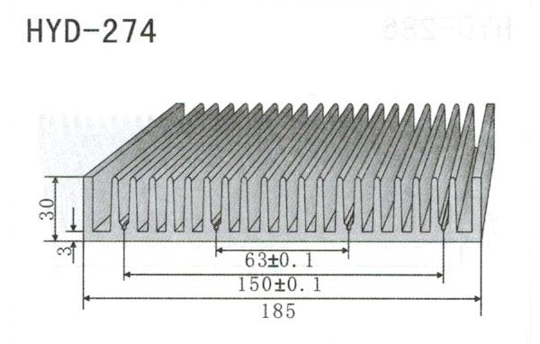 18m型材散热器274