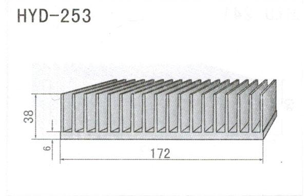 17cm型材散热器253