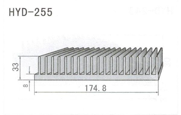 17cm型材散热器255