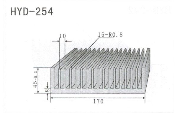 17cm型材散热器254