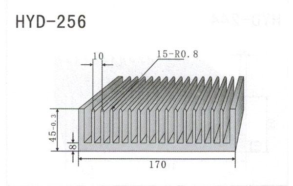 17cm型材散热器256