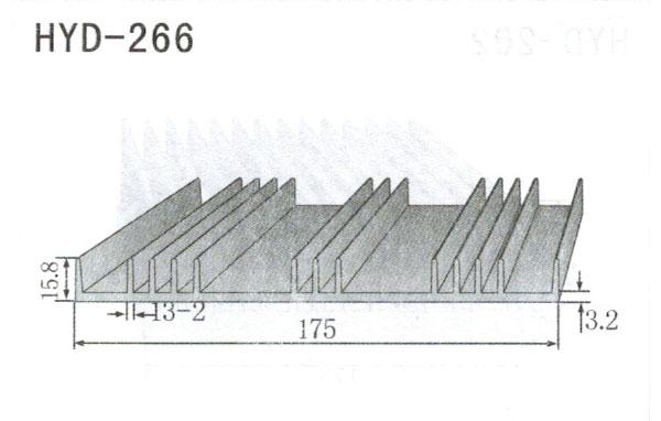 17cm型材散热器266