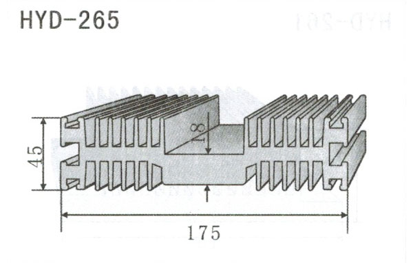 17cm型材散热器265