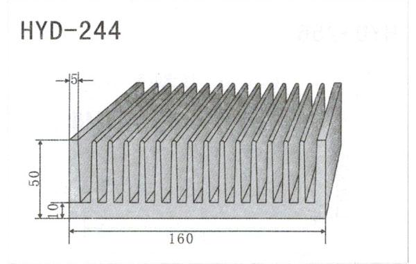 16cm型材散热器244