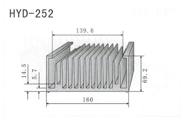 16cm型材散热器252