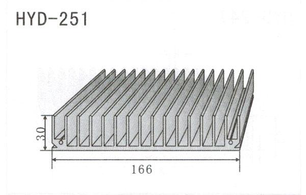 16cm型材散热器251