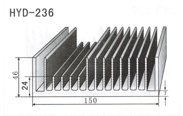 15cm型材散热器236
