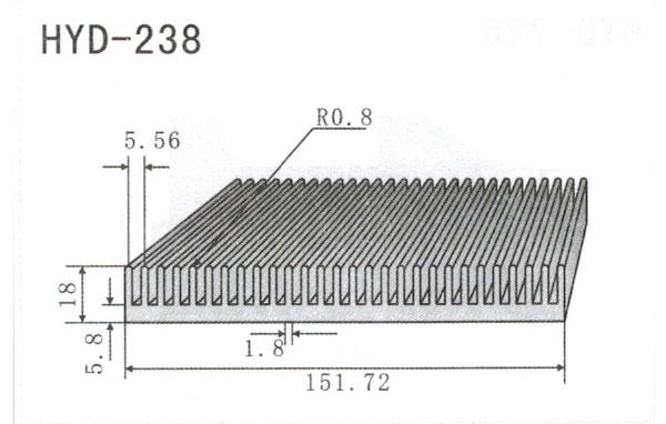 15cm型材散热器238