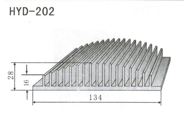 13cm型材散热器202