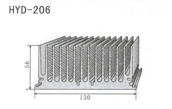 13cm型材散热器206
