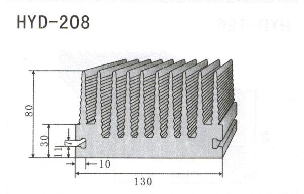 13cm型材散热器208