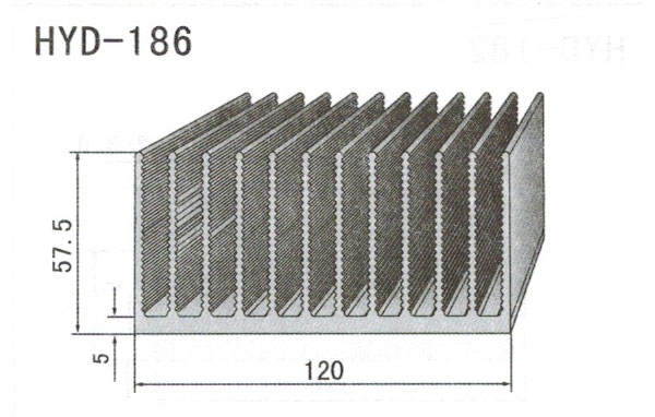 12cm型材散热器186