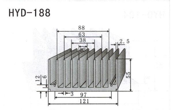 12cm型材散热器188