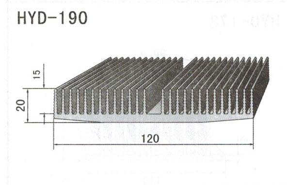12cm型材散热器190