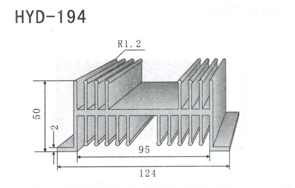 12cm型材散热器194