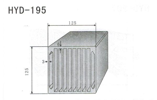 12cm型材散热器195