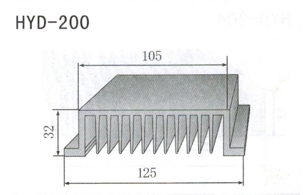 12cm型材散热器200
