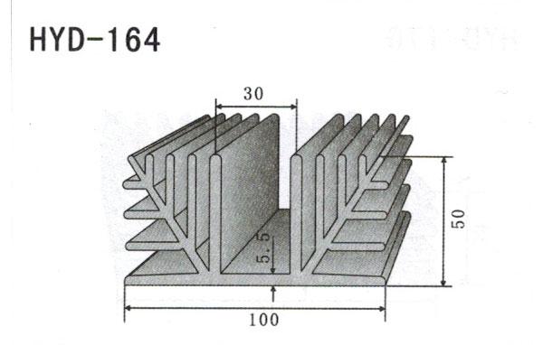 10cm型材散热器164
