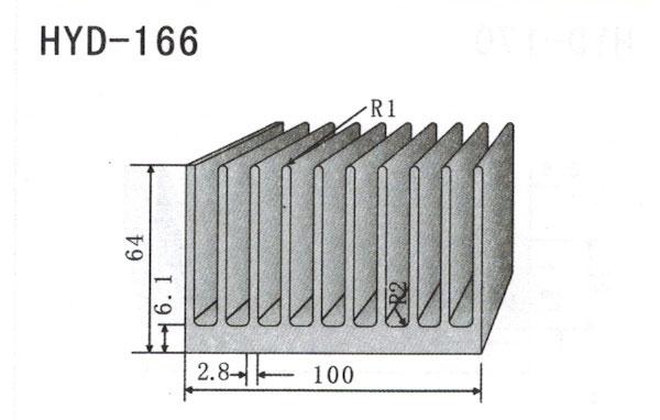 10cm型材散热器166