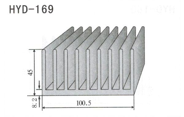 10cm型材散热器169