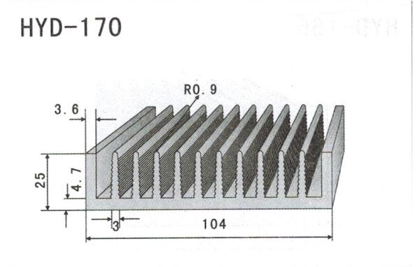 10cm型材散热器170