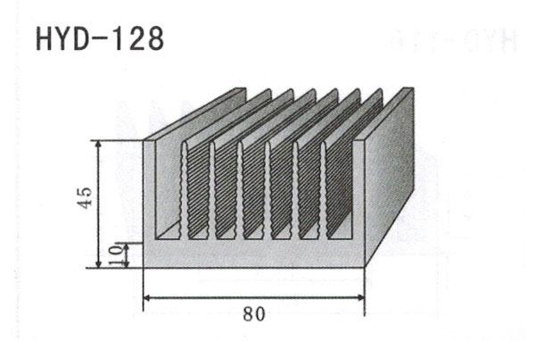 8cm型材散热器128