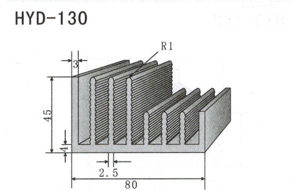 8cm型材散热器130
