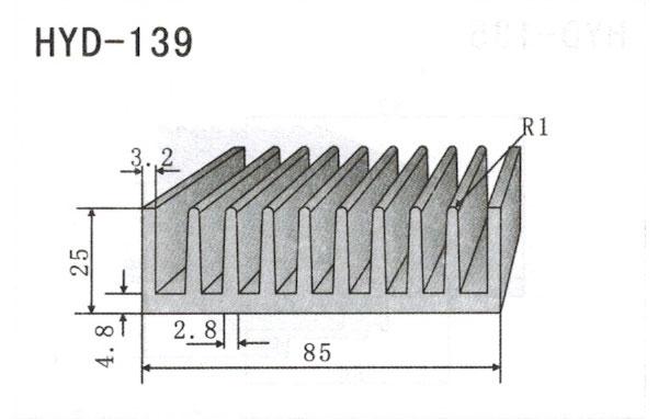 8cm型材散热器139