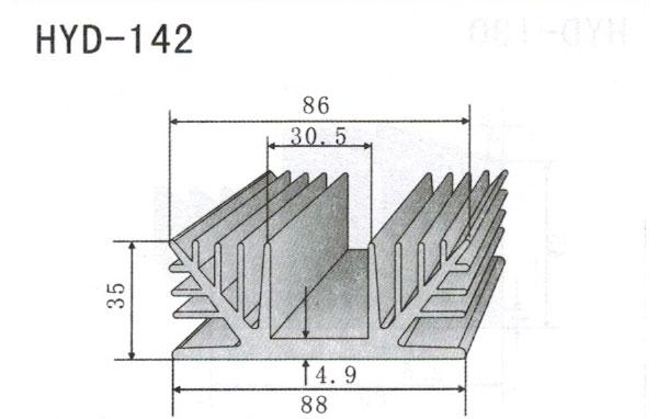 8cm型材散热器142