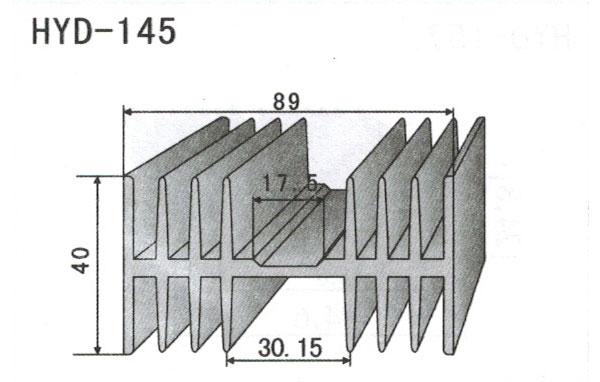 8cm型材散热器145