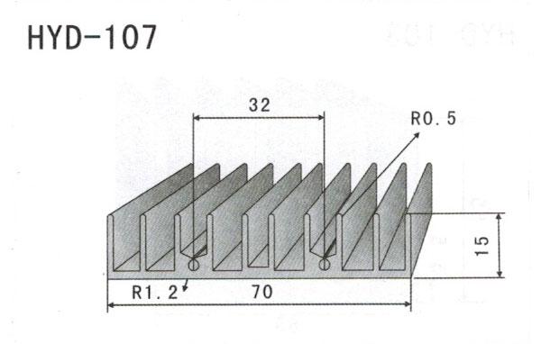 7cm型材散热器107