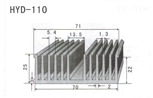 7cm型材散热器110