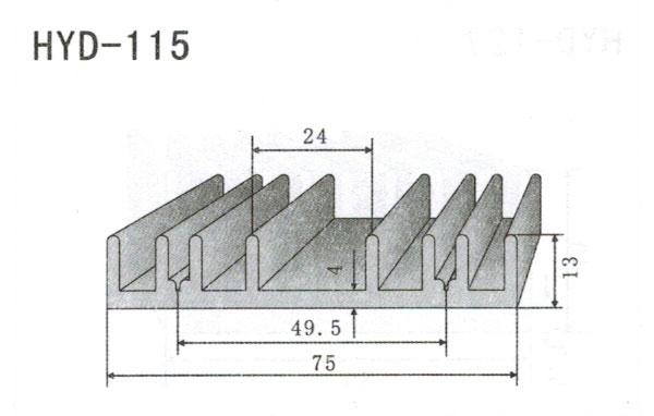 7cm型材散热器115