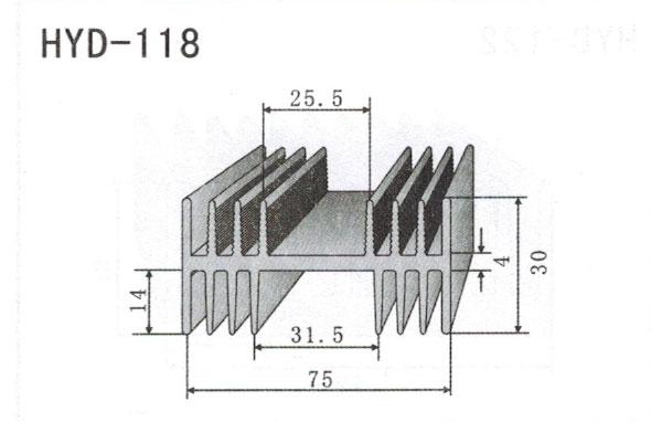 7cm型材散热器118