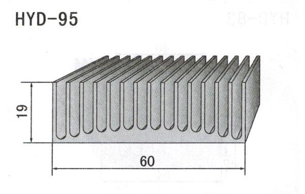 6cm型材散热器95