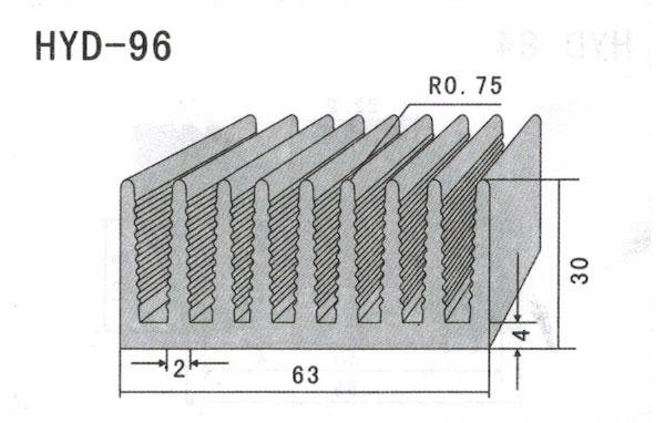 6cm型材散热器96