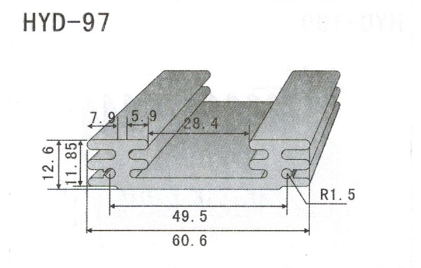 6cm型材散热器97