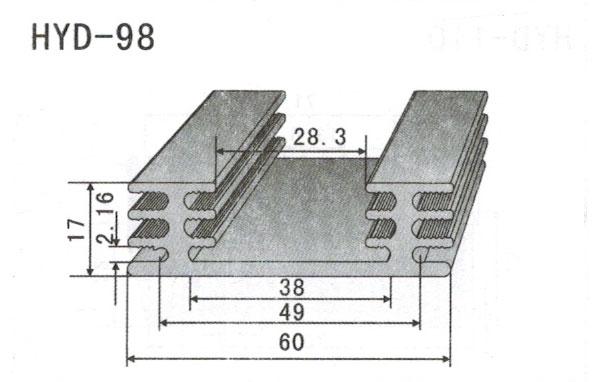 6cm型材散热器98