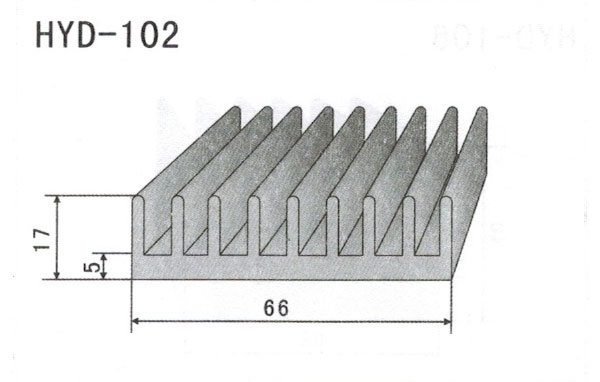 6cm型材散热器102