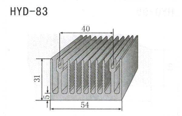 5cm型材散热器83