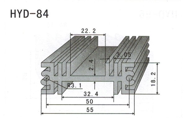 5cm型材散热器85