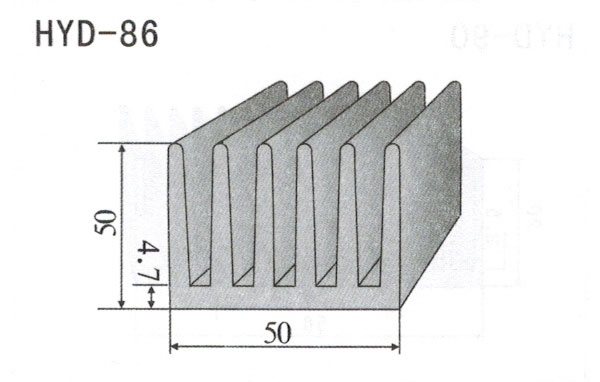 5cm型材散热器86
