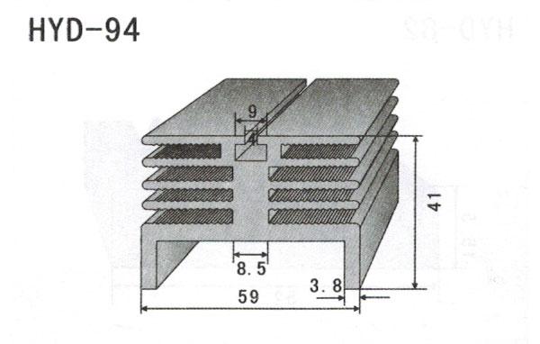 5cm型材散热器94