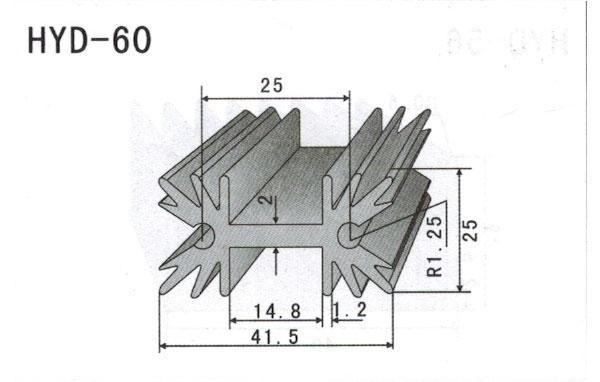 4cm型材散热器60