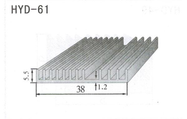 4cm型材散热器61