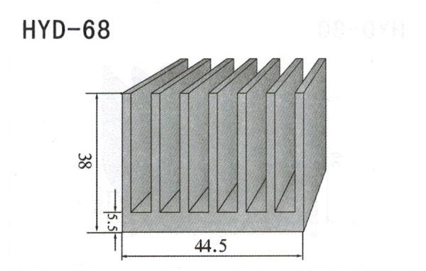 4cm型材散热器68