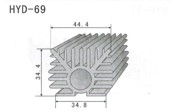 4cm型材散热器69