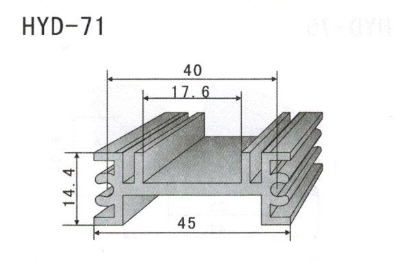 4cm型材散热器71