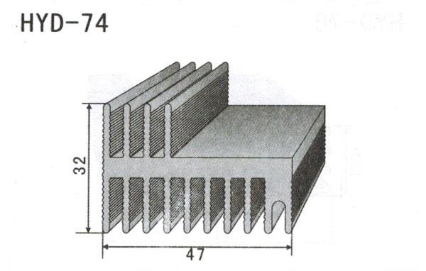 4cm型材散热器74